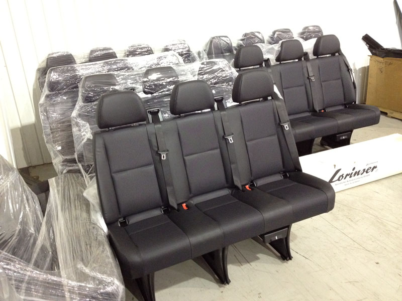 leatherette mercedes benz sprinter oem seat new limousine passenger seat dodge ebay. Black Bedroom Furniture Sets. Home Design Ideas