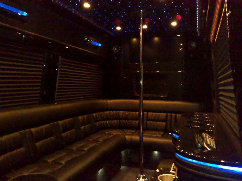 another pole shot. Brabus Sprinter Limousine with 100  more stripper pole   NASIOC