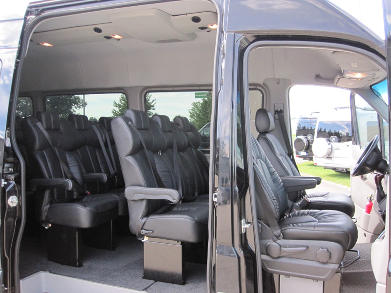 Leatherette mercedes benz sprinter oem seat new limousine for Mercedes benz sprinter 15 passenger