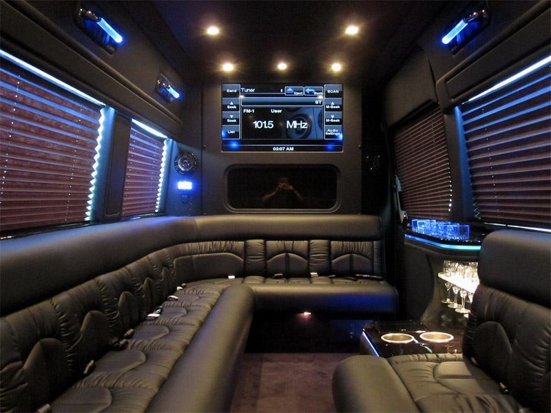 2013 mercedes benz sprinter 15 passenger limousine for Mercedes benz conversion vans for sale