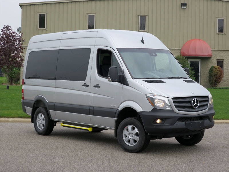 2015 mercedes benz sprinter 4x4 12 passenger 144wb high for Mercedes benz sprinter passenger