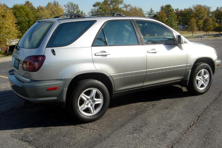 2000 lexus rx300 awd silver on gray leather interior