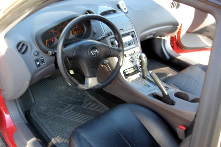 2002 toyota celica gt red with gray leather interior. Black Bedroom Furniture Sets. Home Design Ideas