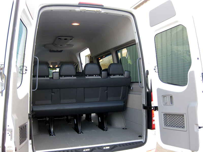 passenger sprinter van mercedes benz seating roof 2005 interior dodge shc wagon cars removable bench package rear